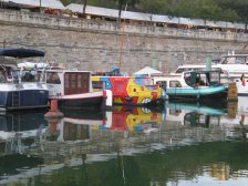 Check out the multi-coloured boat!