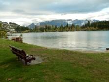 Across the lake is Queenstown Gardens