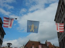 Jura flags... although one seems to be backwards? DOn't know what the blue one is.