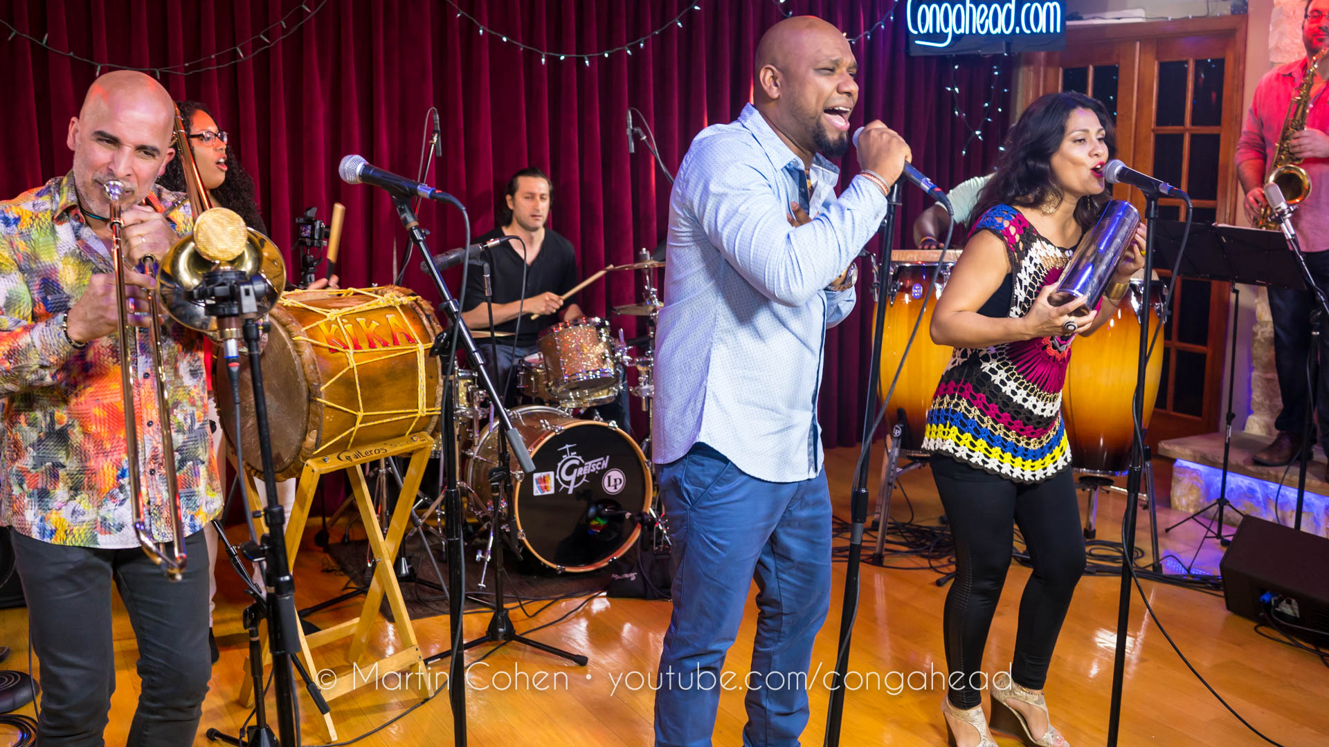 Grupo Rebolu Ft. Jimmy Bosch & Edmar Castaneda perform at Congahead Studios
