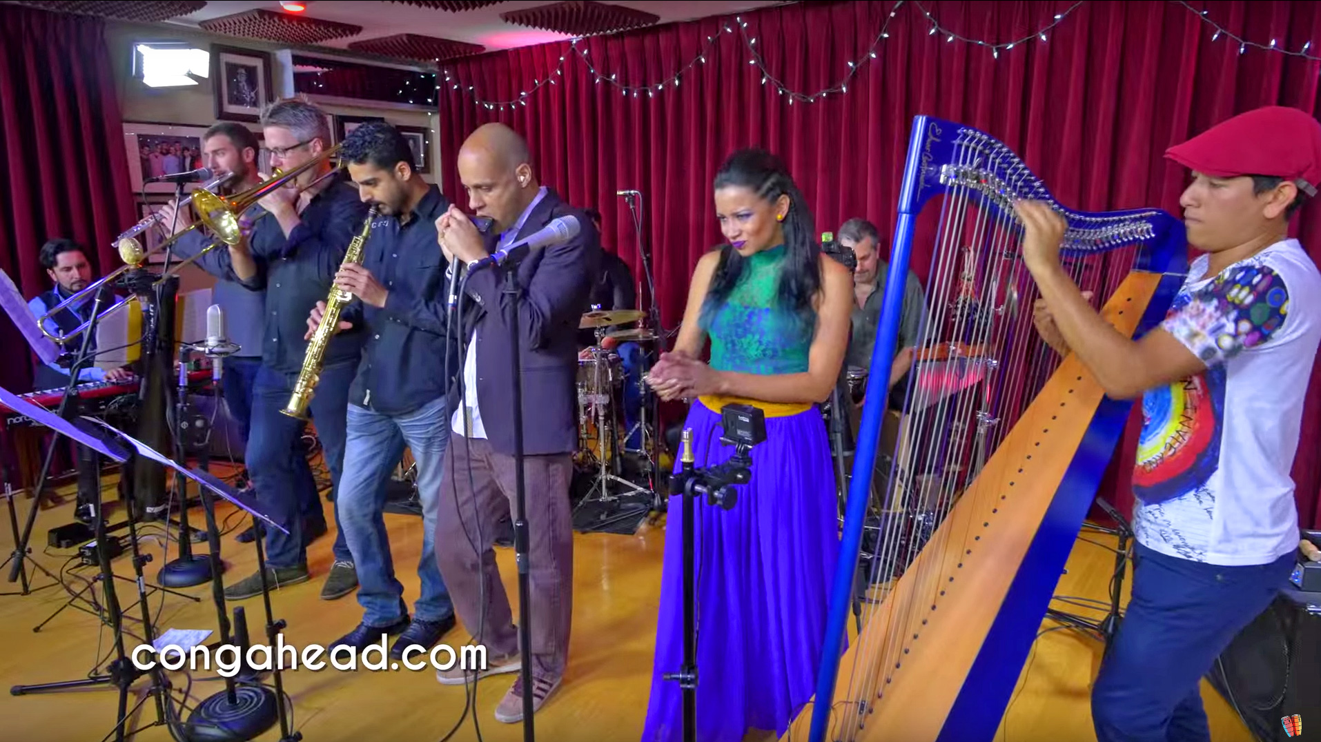 Edmar Castaneda's World Ensemble perform at Congahead Studio