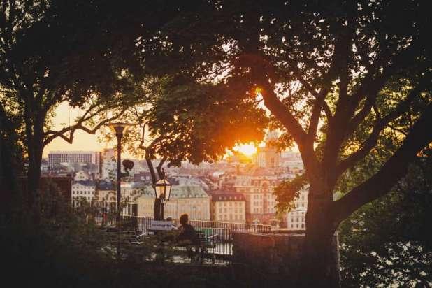 Thủ đô Stockholm - Thuỵ Điển  trong hoàng hôn