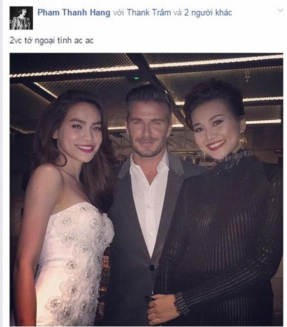 David Beckham, David Beckham o tp ho chi minh, David Beckham va my nhan viet, ho ngoc ha, thanh hang, toc tien, hoang my,