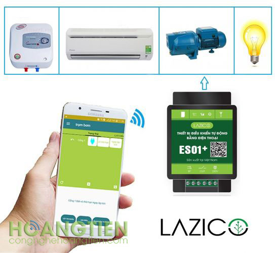 Công tắc điều khiển từ xa qua sim Lazico ES01+