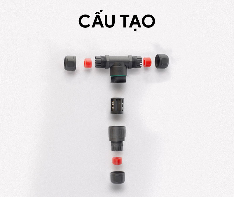 Cút nối dây điện chữ T chống nước IP68 CDF-200-3T