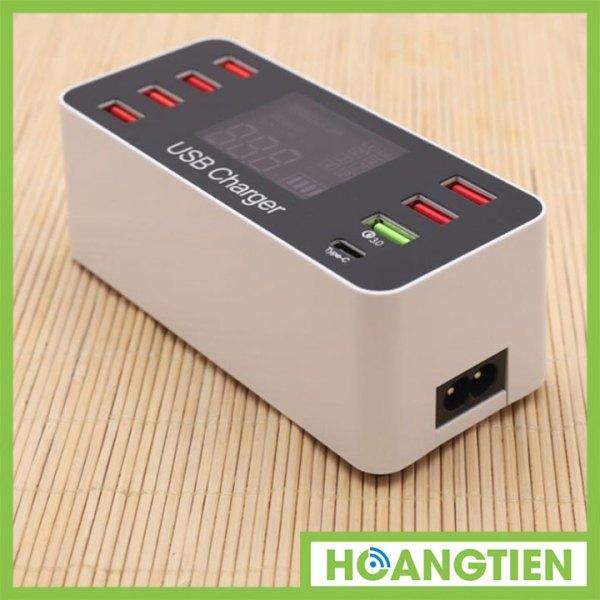 Ổ cắm sạc USB 8 cổng hỗ trợ sạc nhanh QC3.0 A9 Plus