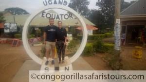 The equator line in Uganda