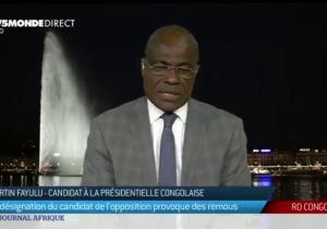 """Martin Fayulu : """"Nous accusons Kabila de ne pas respecter le texte alors que nous dans l'opposition nous sommes incapables de les respecter aussi"""""""