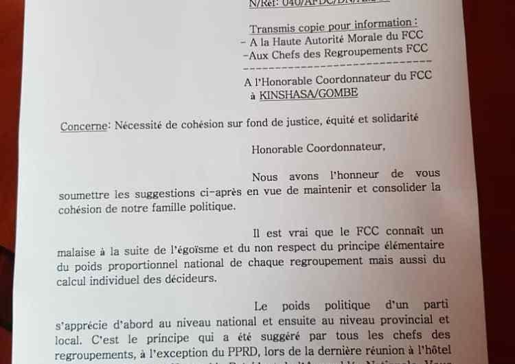 """RDC: """"AFDC et alliés"""" propose un schéma de gestion des provinces au FCC"""