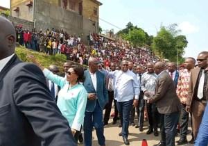 RDC/ Présidence : Félix Tshisekedi a visité la route de Matadi détruite par une pluie diluvienne