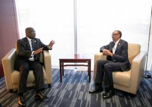 32e sommet de l'UA: Tête à tête Félix Tshisekedi et Paul Kagame