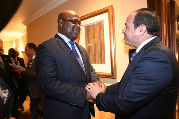 RDC/UA: F. Tshisekedi rencontre l'Egyptien Abdel Fattah al-Sissi à Addis-Abeba