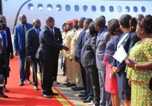 Le président centrafricain Faustin Archange Touadera à Kinshasa pour soutenir Félix Tshisekedi