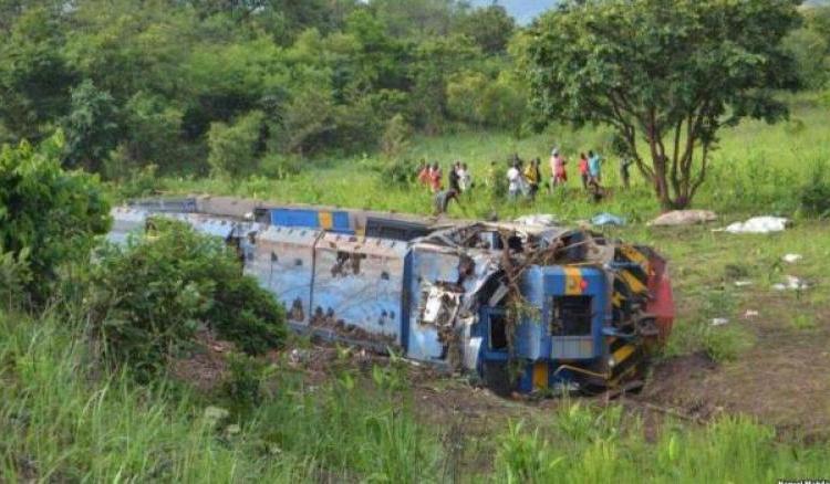RDC/Kasaï central:  déraillement d'un train sur le pont Luemba, près de 80 morts !