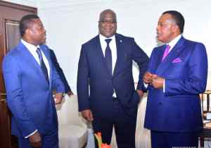 Dakar: tripartite de circonstance entre Tshisekedi, Sassou et Faure Eyadema