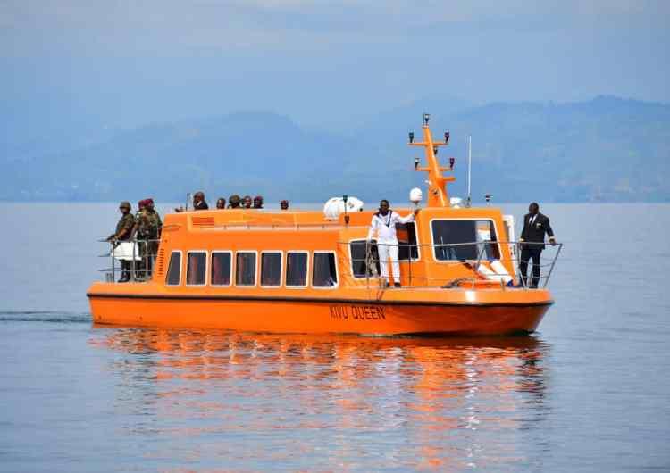 RDC/Goma: F. Tshisekedi en randonnée fluviale et visite des infrastructures