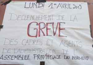 RDC/Goma : en grève, les agents de l'Assemblée provinciale du Nord-Kivu réclament 108 mois litigieux