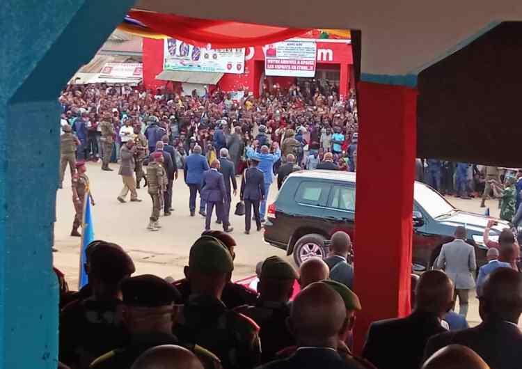 Félix Tshisekedi chaleureusement accueilli à Bunia