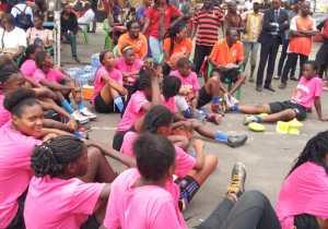 """Basket : une quarantaine de jeunes filles ont pris part au camp de vacances """"Chanel Mokango"""" à Kinshasa"""