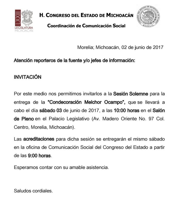 Invitación Sesión Solemne 03-junio-2017