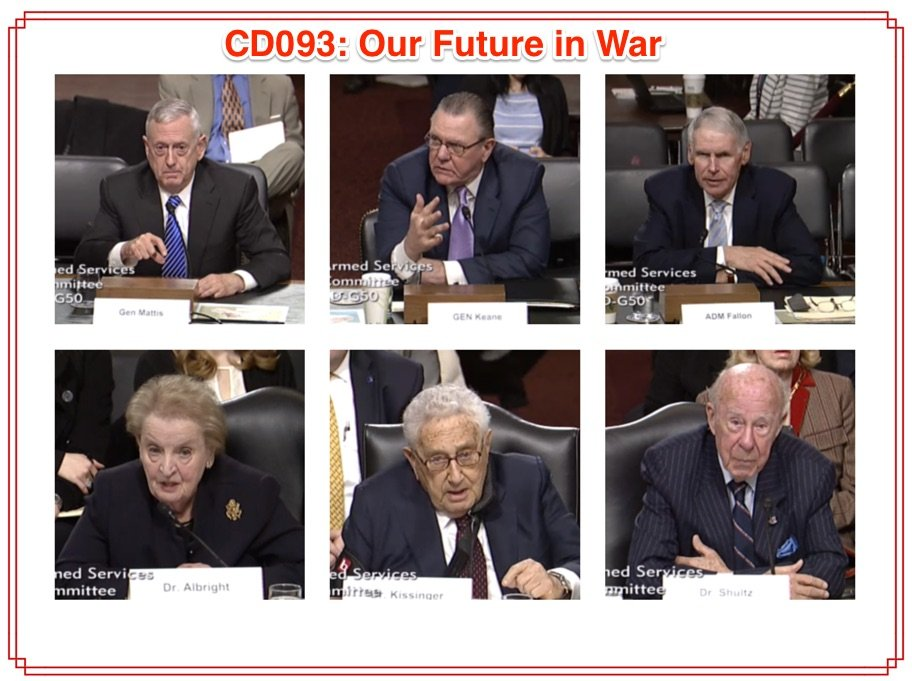 CD093: Our Future in War
