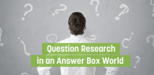 Question Research Using Keyword Planner Tool