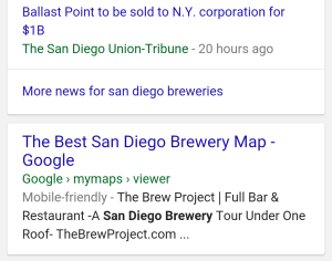 mobile Google search result for my map