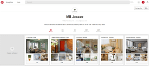example of full pinterest profile page