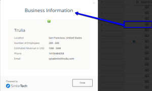 image of business information report in similarweb