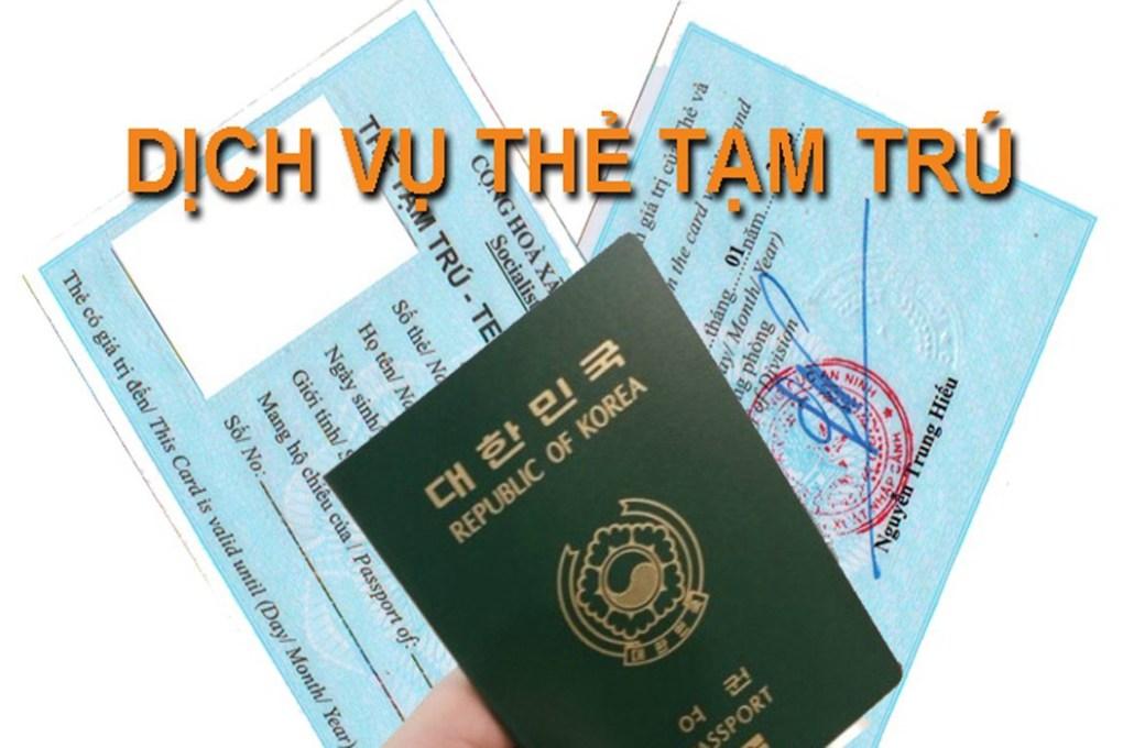Làm thẻ tạm trú cho người nước ngoài