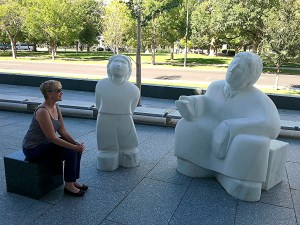 One of the things I love about Denver is its commitment to public art. These compelling statues are at the front