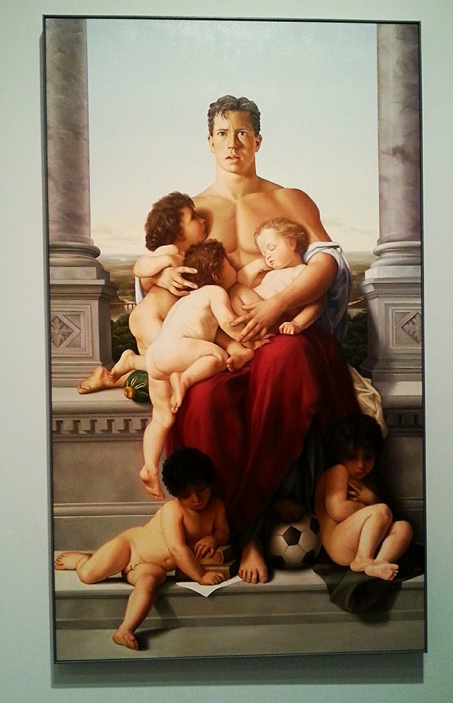 "This painting is titled ""Fatherhood"". One little boy looking at it shared his critique: ""Yuck!"""