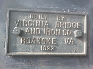 This is for my Virginia friends and family. Sign is affixed to a pedestrian bridge.