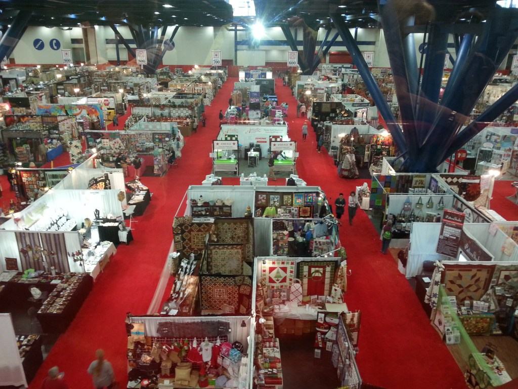 So many temptations in the vendors area. I did find a sewing machine that I was delightful to purchase at an amazingly reasonable price.
