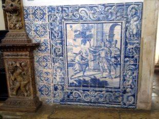 Azulejos do interior da Igreja