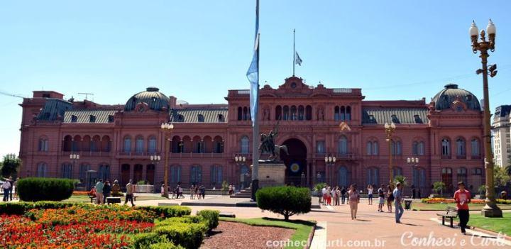 A Casa Rosada em Buenos Aires.