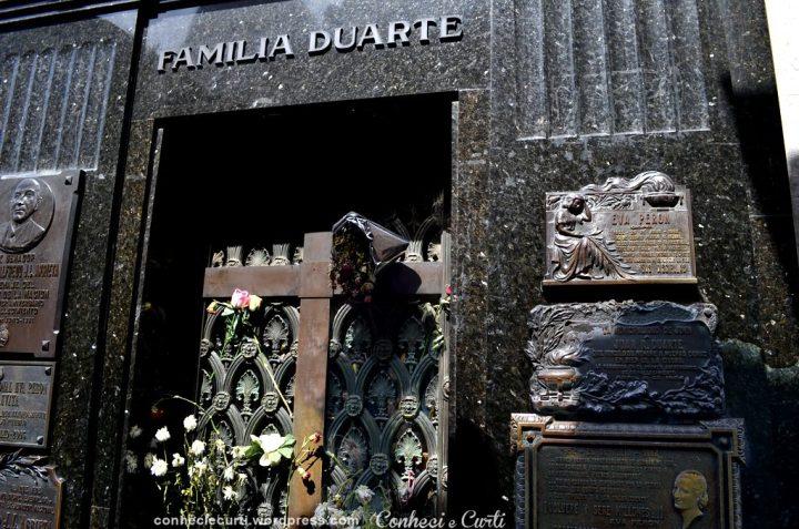 Recoleta - Túmulo da Família Duarte, onde Evita Perón está sepultada