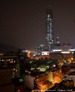 Santiago Chile vista noturna, linda!