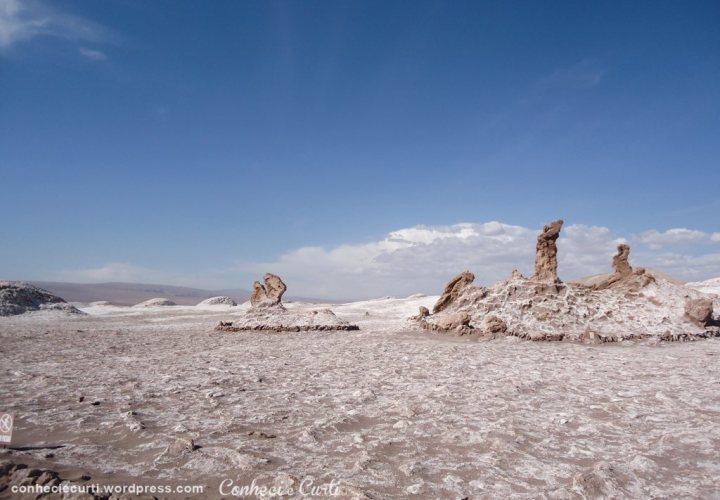 Las Tres Marías, raras esculturas de sal - Vale da Lua, Deserto do Atacama