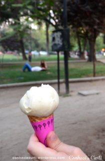 Sorvete de rosa, Santiago do Chile