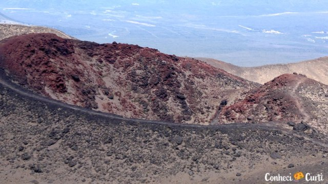 A cratera Roja do vulcão Osorno, no sul do Chile