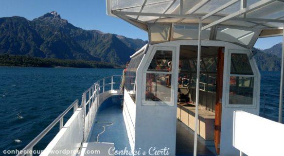 Nosso barco de passeio no Lago Todos Los Santos