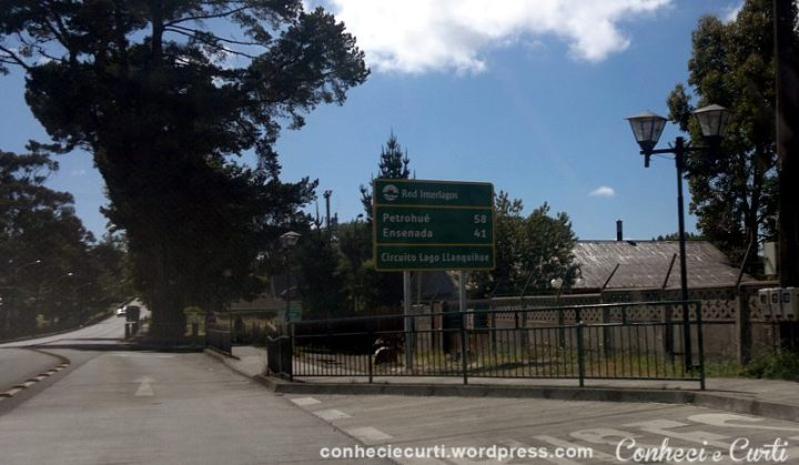 Estrada para o Lago Todos Los Santos e Saltos de Petrohué