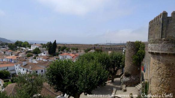 Óbidos, Portugal. A Vila e a muralha.