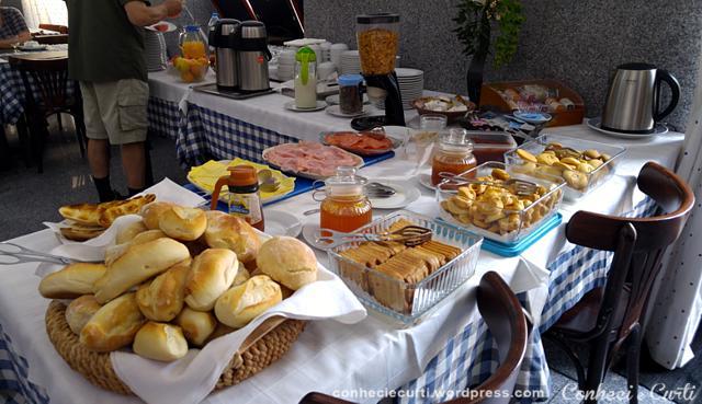Café da manhã no Hotel Vitória em Coimbra.