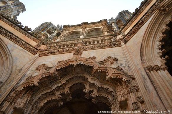 Balcão das Capelas Imperfeitas, Mosteiro da Batalha, Portugal.