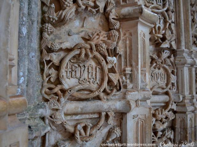 Capelas Imperfeitas no Mosteiro da Batalha. Detalhes das paredes.