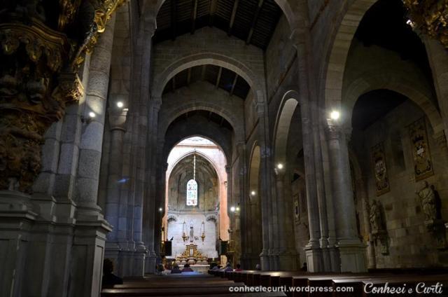 Interior da Sé de Braga, Portugal.