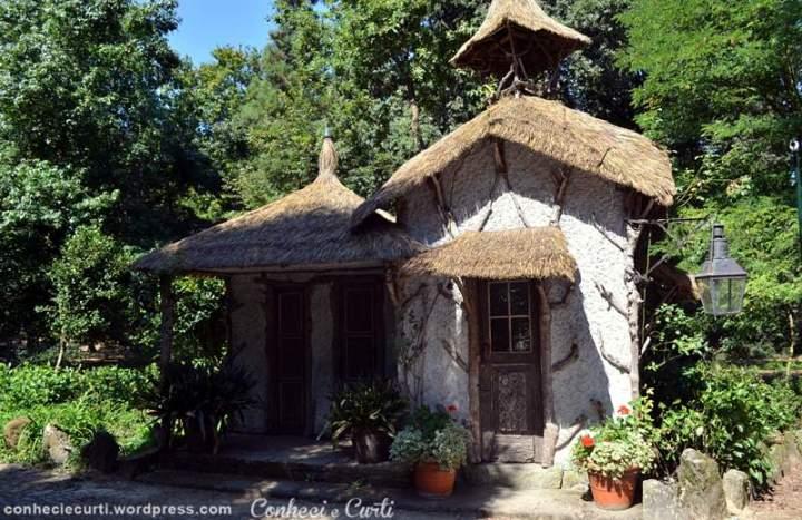 Jardins da Quinta da Aveleda, a antiga casa do porteiro.