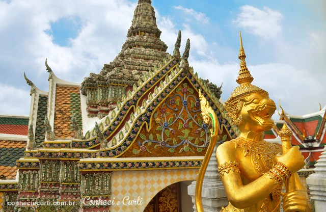 Detalhe do Grand Palace em Bangkok.